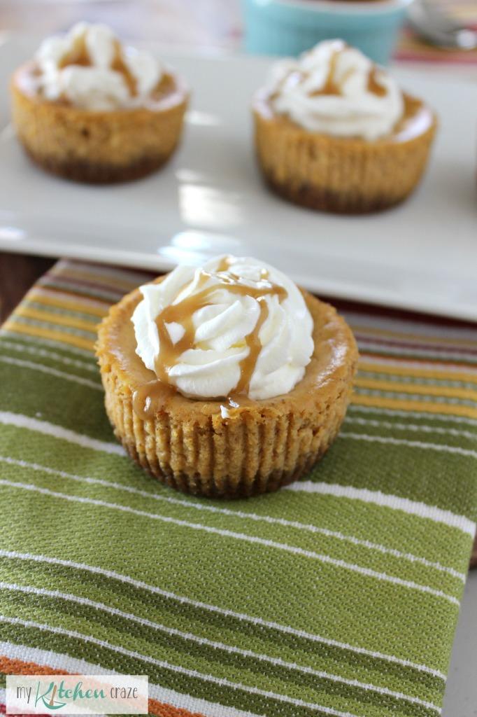 Mini Pumpkin Cheesecakes - My Kitchen Craze