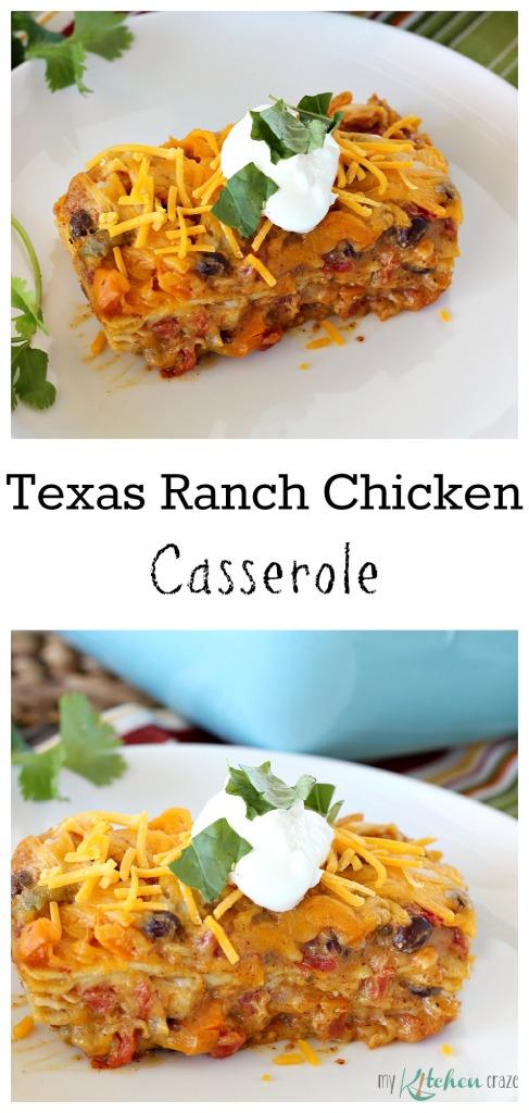 Texas Ranch Chicken Casserole l My Kitchen Craze