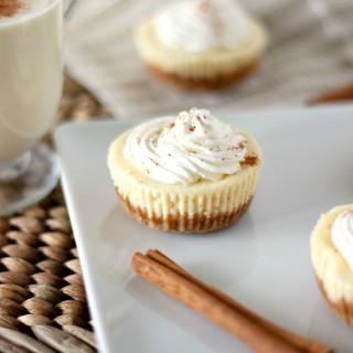 Mini Eggnog Cheesecakes l My Kitchen Craze