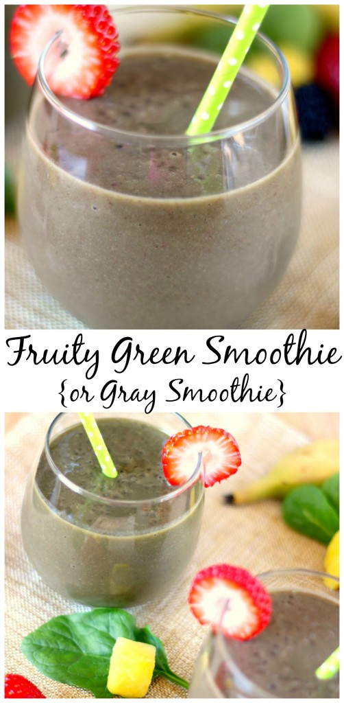 Fruity Green Smoothie {or Gray Smoothie} l My Kitchen Craze