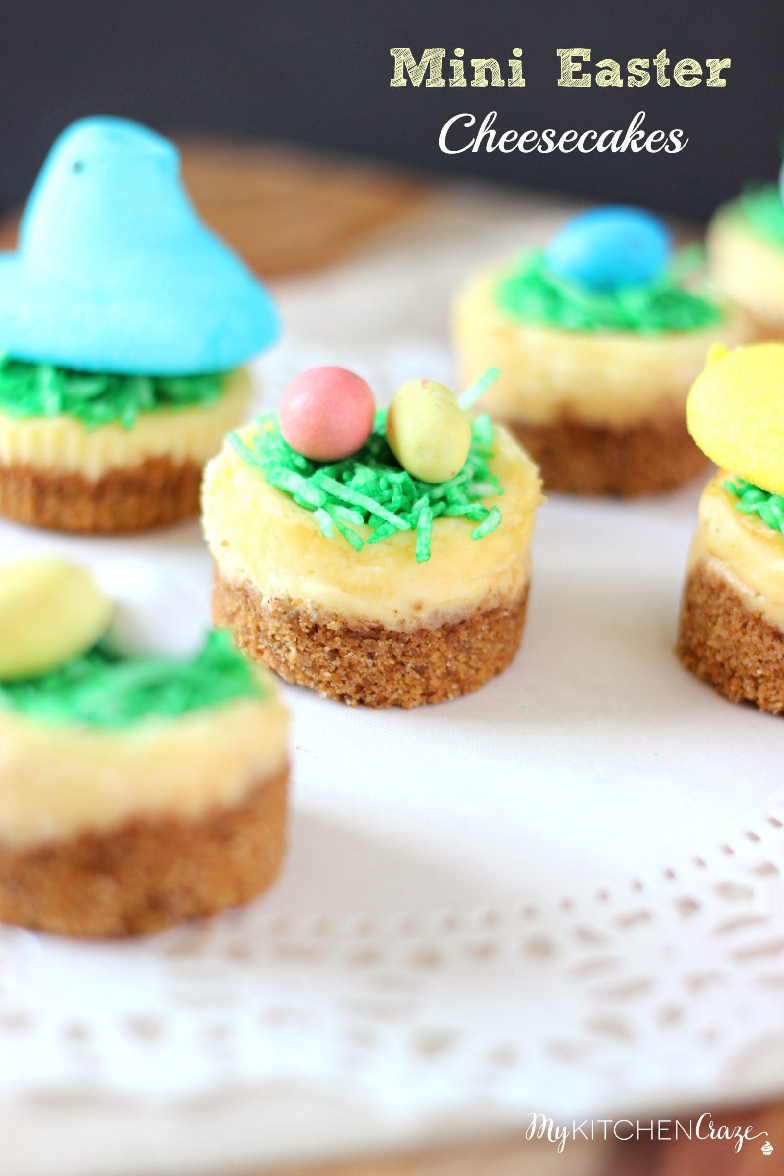 Mini Easter Cheesecakes ~ www.mykitchencraze.com