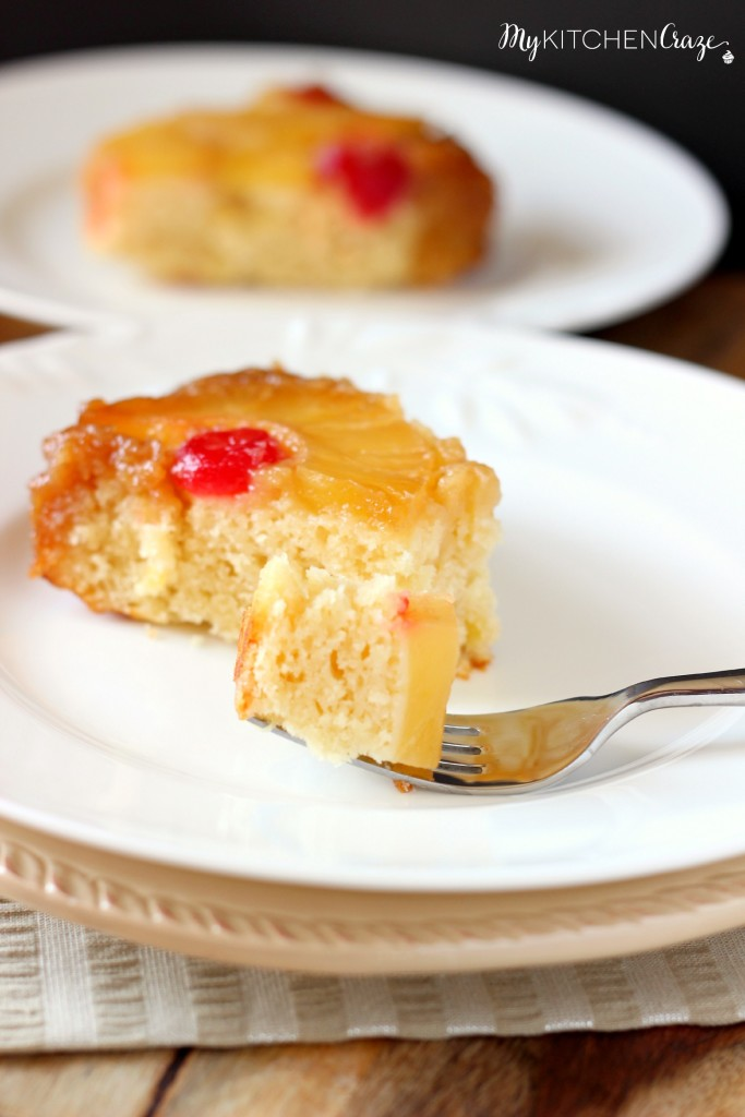 Pineapple Upside-Down Cake ~ www.mykitchencraze.com ~ A moist and delicious cake for any occasion!