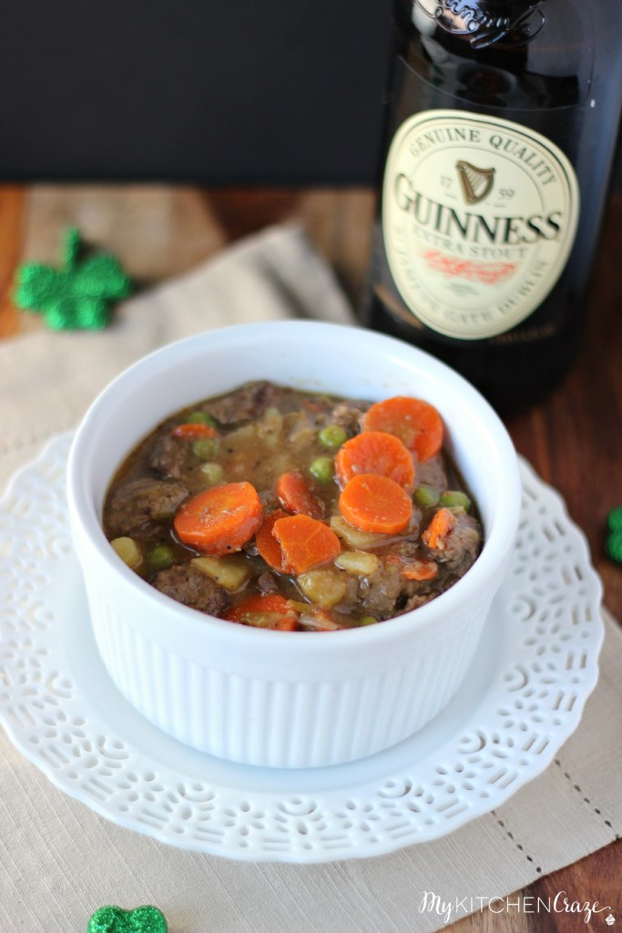 Guinness Beef Pot Pie ~ Delicious meat braised in Guinness beer then added vegetables, makes this pot pie out of this world! ~ www.mykitchencraze.com