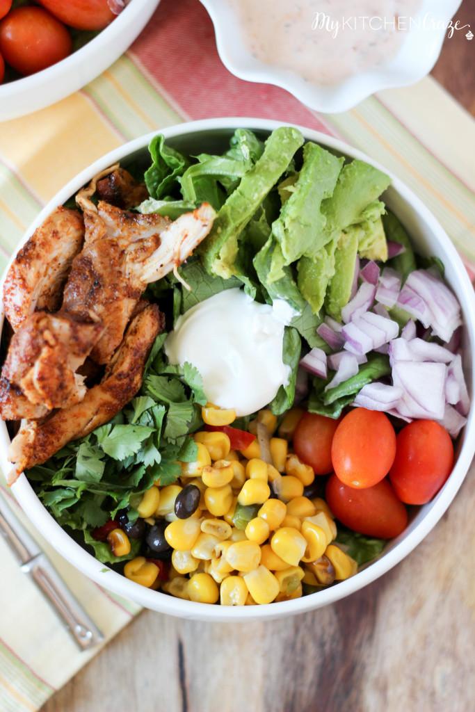 Tex-Mex Chicken Salad ~ www.mykitchencraze.com