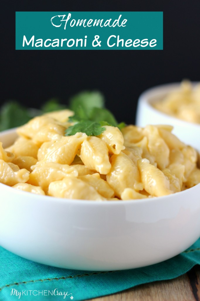 Homemade Macaroni and Cheese ~ All homemade so you can throw those boxes out the door. Made with fresh ingredients and ready in minutes. ~ www.mykitchencraze.com