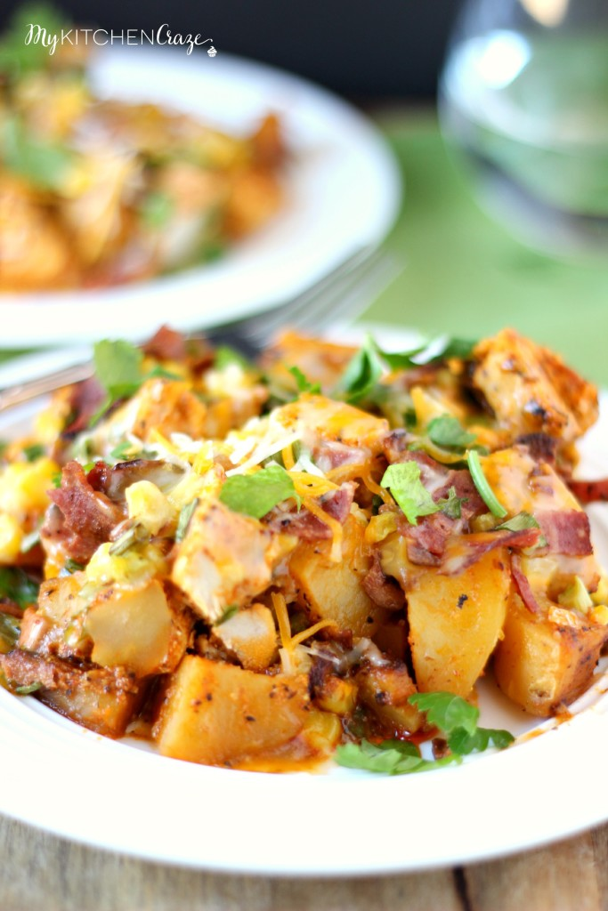 Buffalo Chicken and Potato Casserole ~ www.mykitchencraze.com