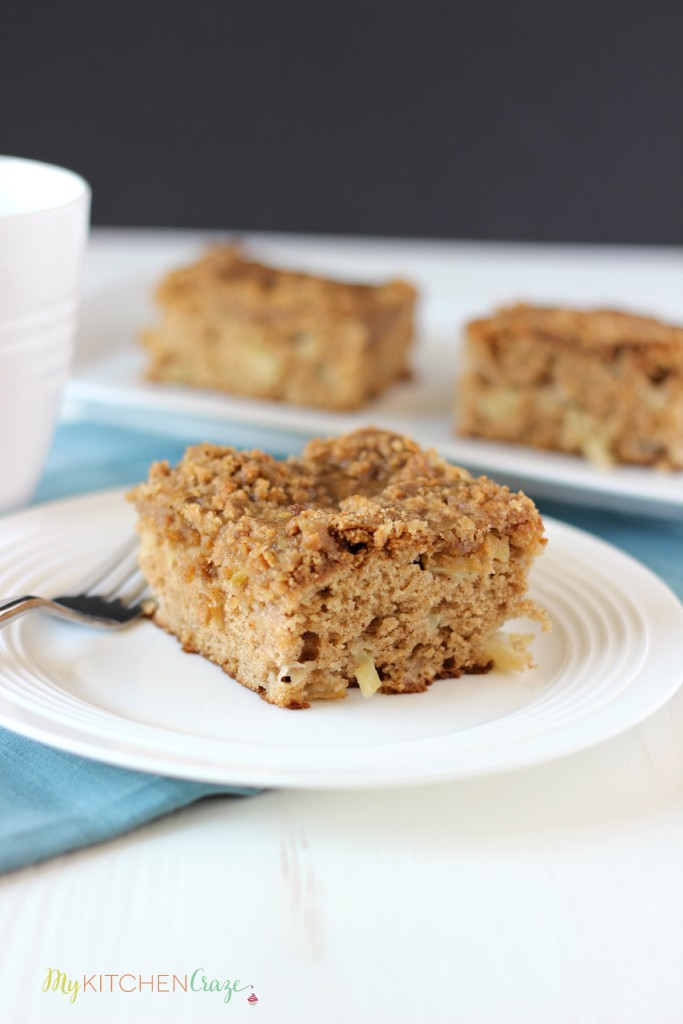 Apple Coffee Cake ~ www.mykitchencraze.com ~ A delicious and moist Apple Coffee Cake.