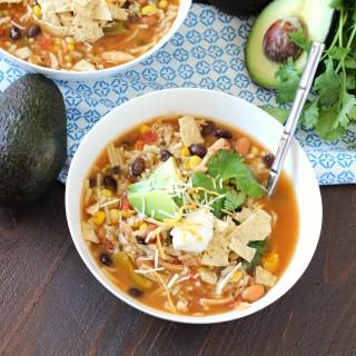 Taco Soup ~ mykitchencraze.com ~ A quick & easy soup recipe that has great flavor!
