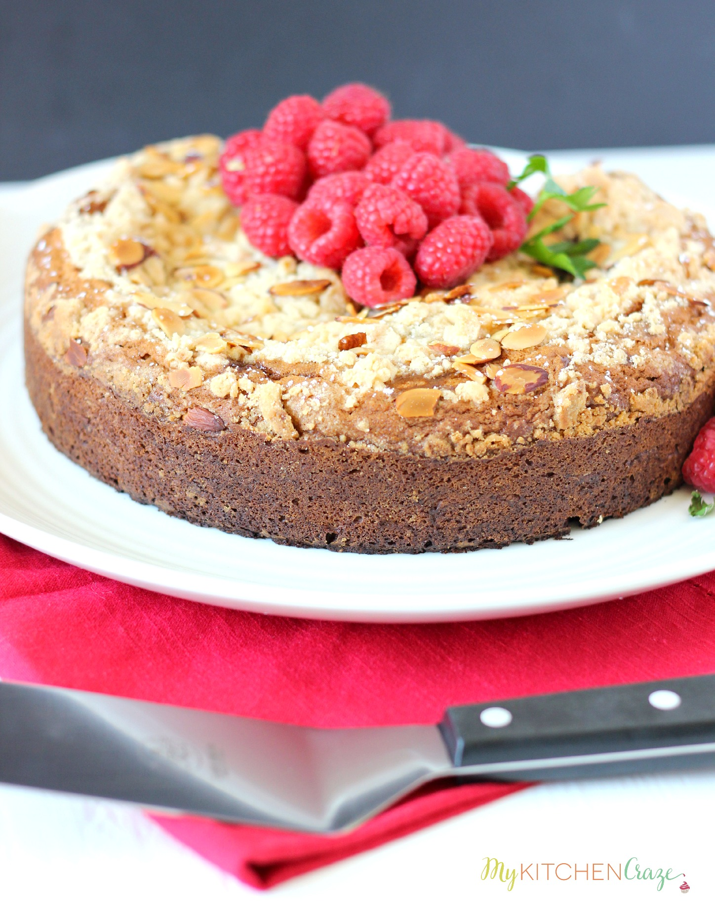 Raspberry Cream Cheese Coffee Cake ~ mykitchencraze.com