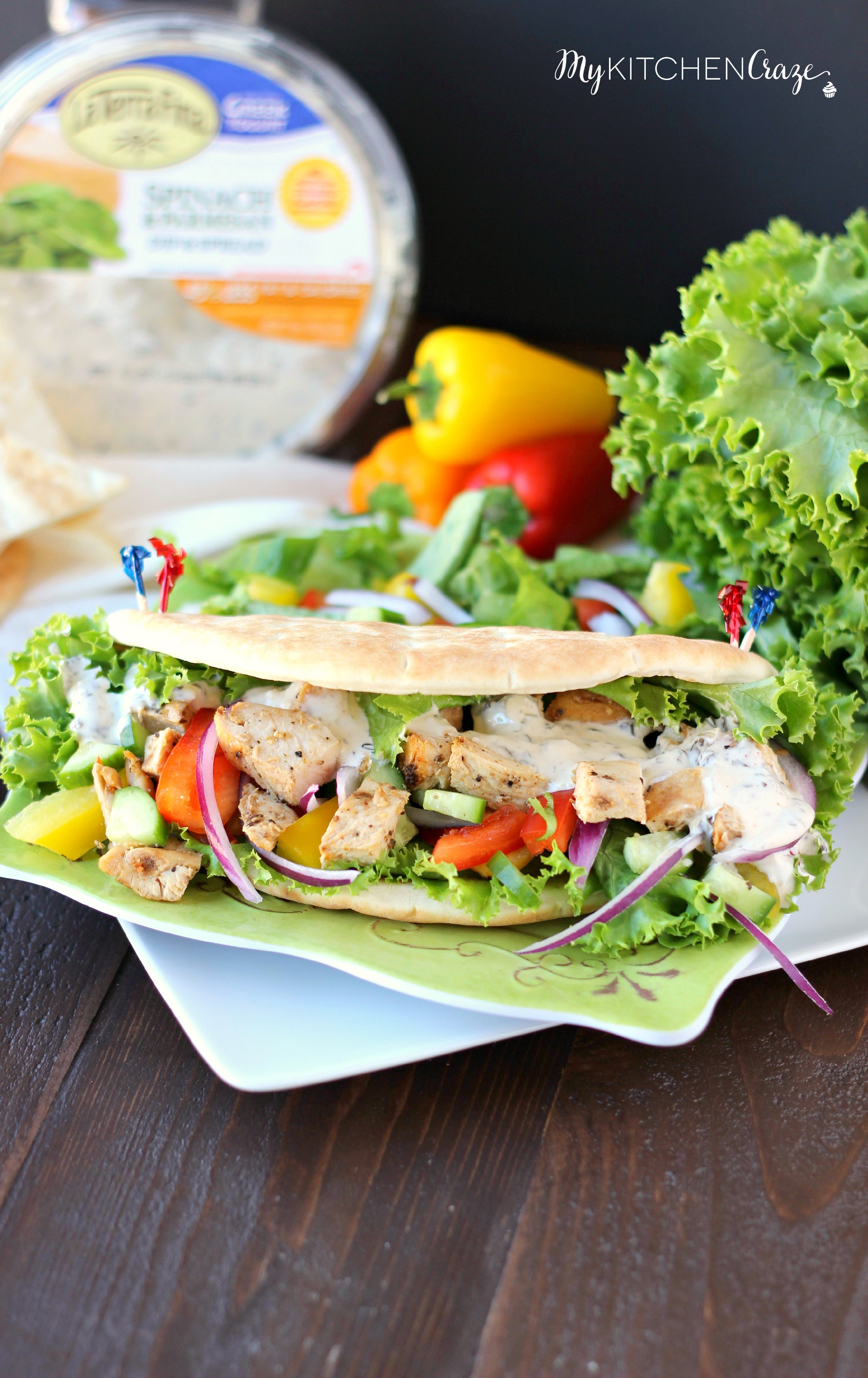 Chicken Pita Wraps ~ mykitchencraze.com ~ A quick, easy and delicious dinner for those busy nights!