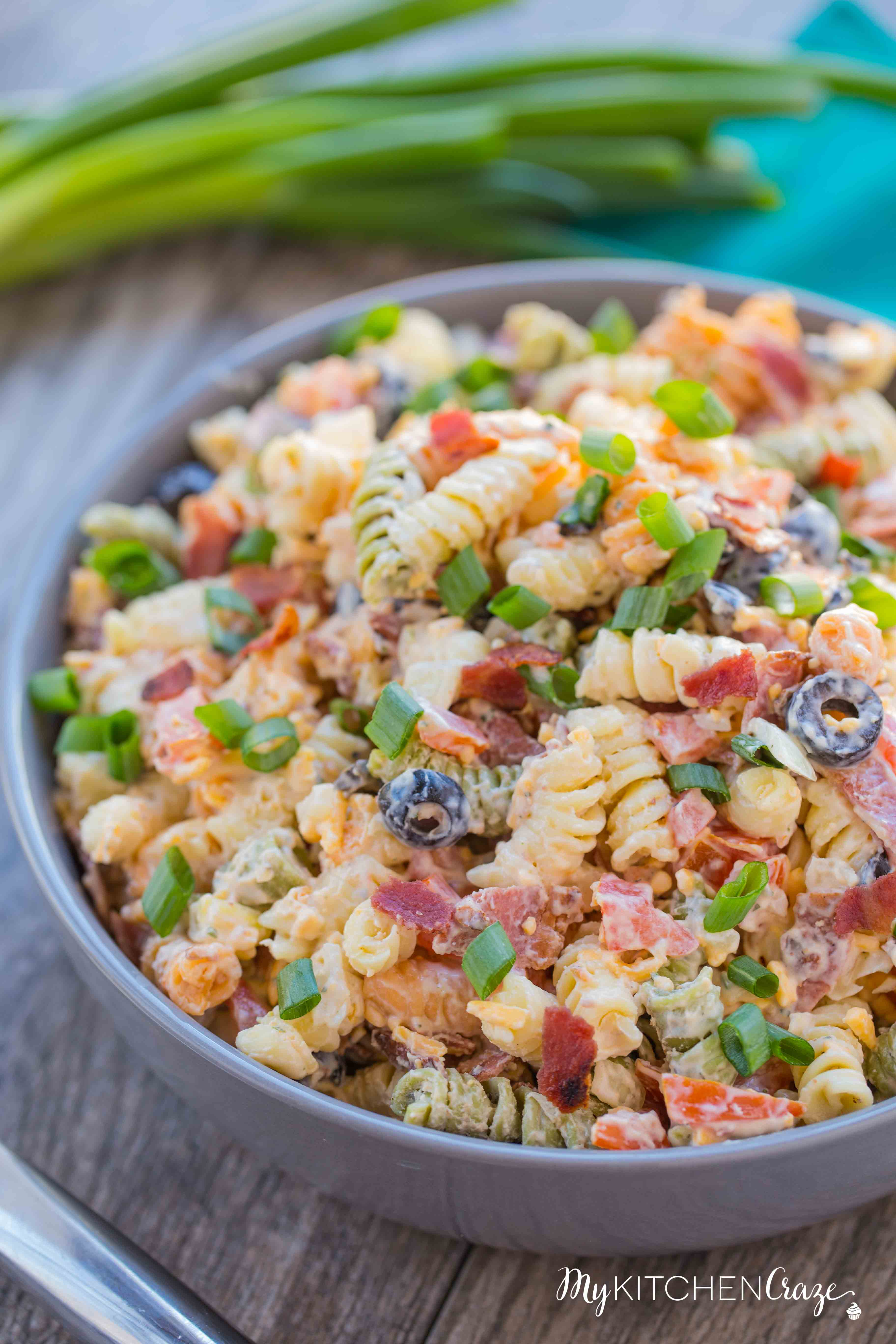 Recipes for bacon ranch pasta salad