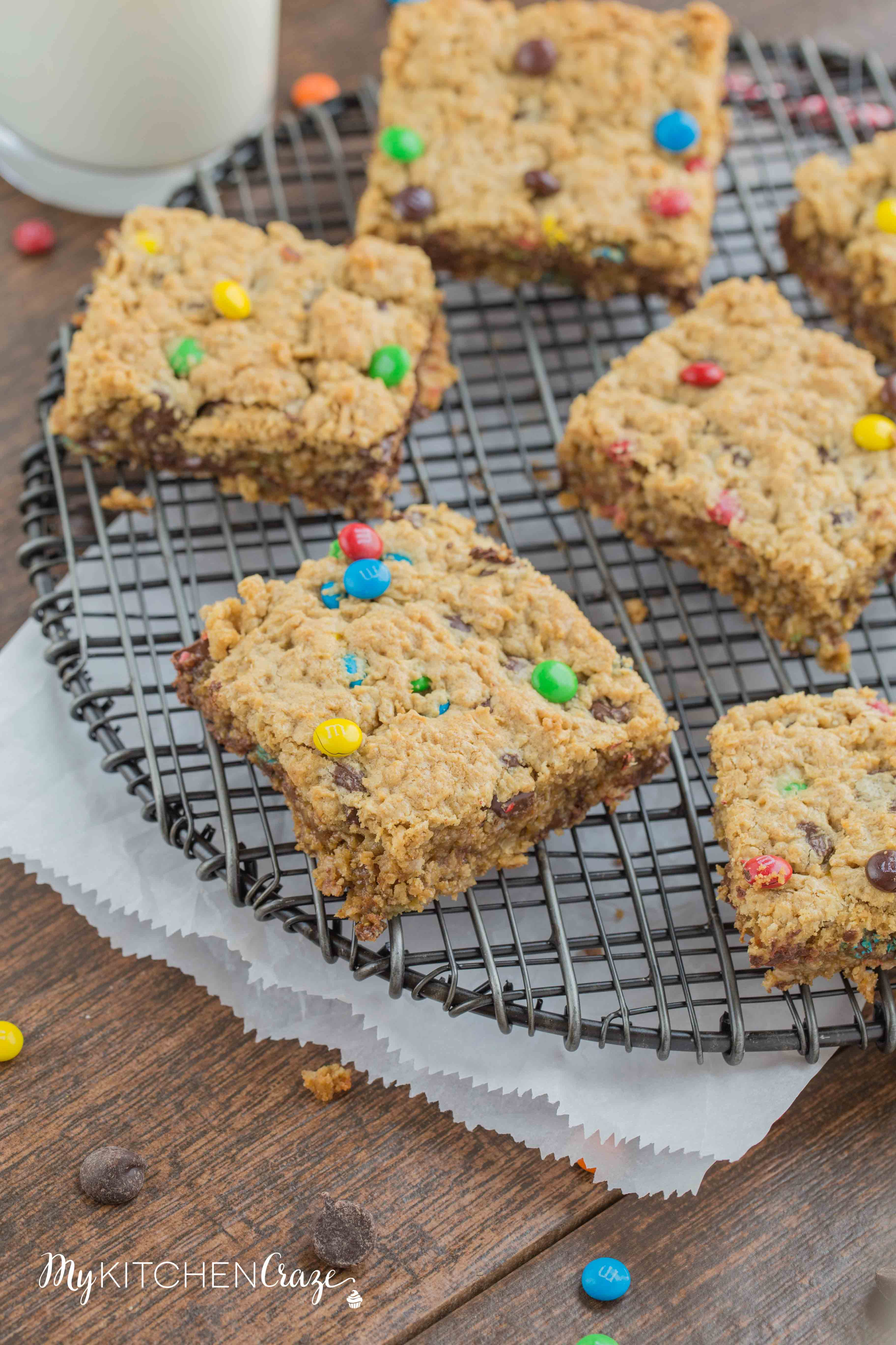 Monster Cookie Bars ~ mykitchencraze.com
