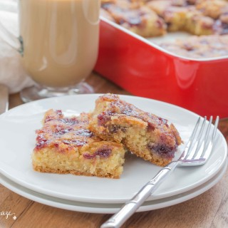 Raspberry Blondies ~ mykitchencraze.com ~ Simple and delicious blondie bars everyone will love.