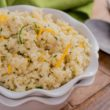 Zucchini Cheese Rice ~ mykitchencraze.com ~ Perfect side dish for any meal! Easy to make and tastes yummy!