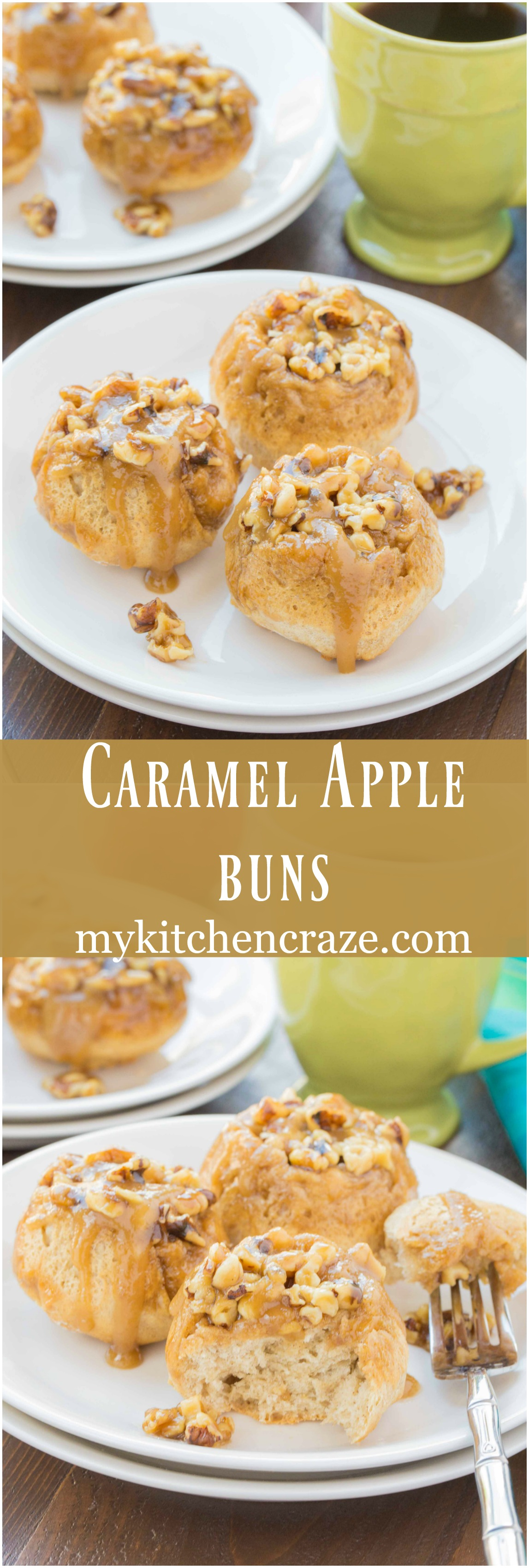 Caramel Apple Buns ~ mykitchencraze.com