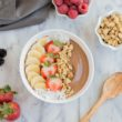 Chocolate Peanut Butter Smoothie Bowl ~ mykitchencraze.com ~ Perfect fun and hearty breakfast to fill those kids and adults up for their day!