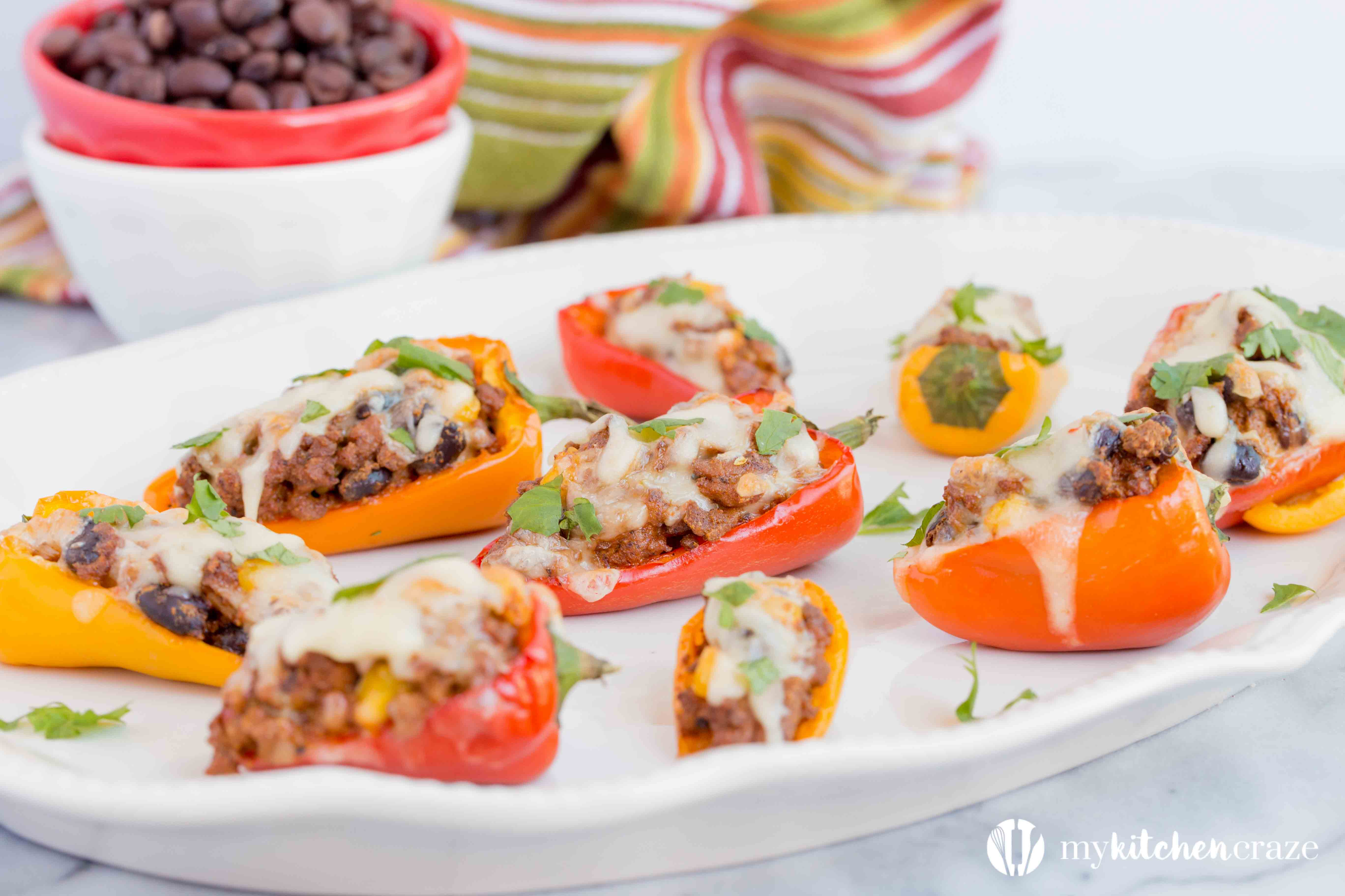Sweet Pepper Poppers ~ Perfect Small Bite Appetizer for Your Next Party! Only 7 ingredients and 30 Minutes!