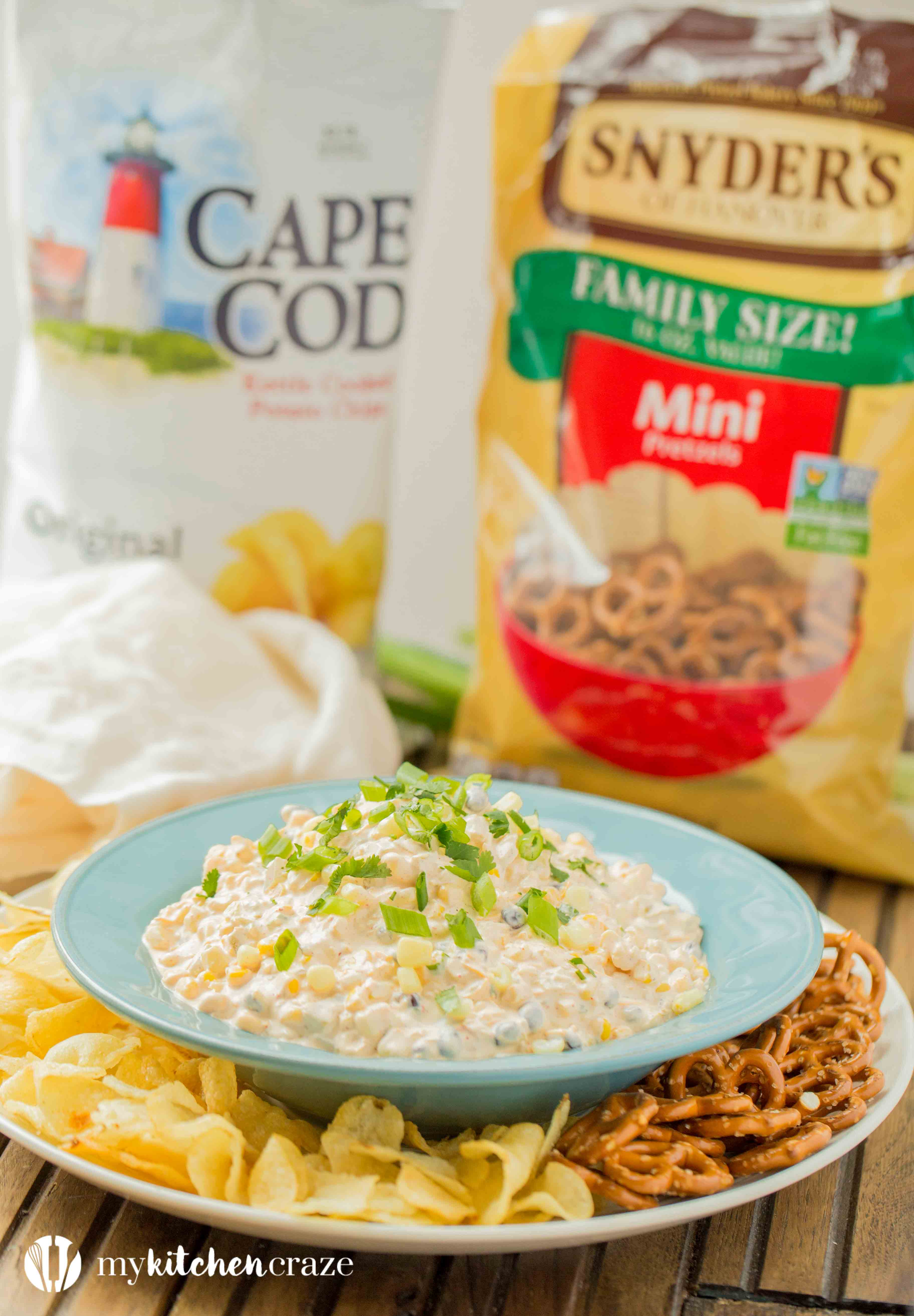 Spicy Corn Dip ~ Loaded with all kinds of yummy ingredients, this dip is perfect for a fun party or family day! Everyone will love this dip!
