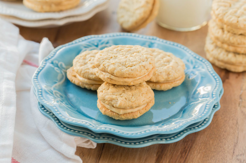 Peanut Butter Sandwich Cookies are insanely good and so addicting. These are a copy cat version of the popular Girl Scout cookie. They are easy to make, taste delicious and you don't have to wait a year to have them!