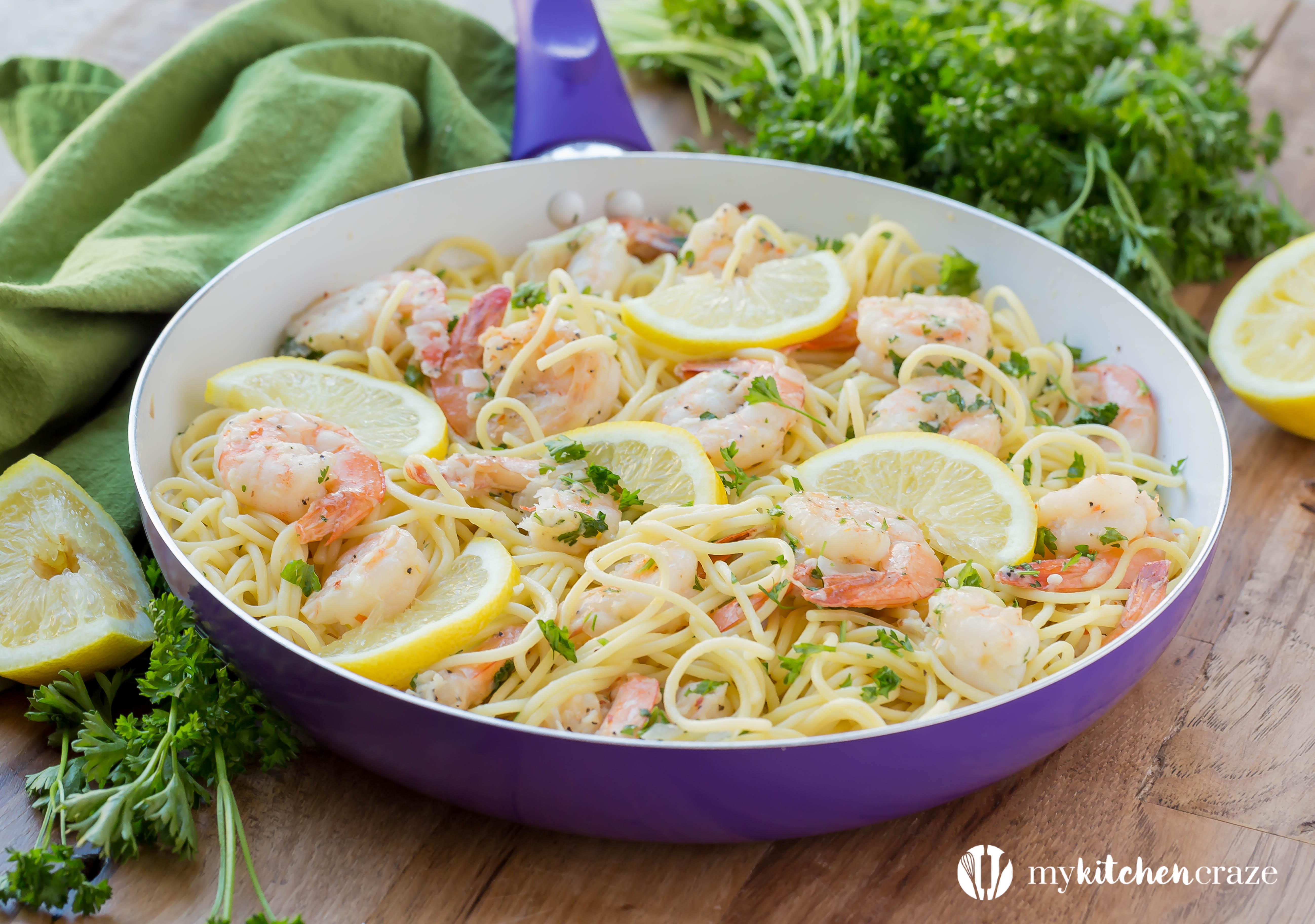 30 Minute Shrimp Scampi is fast becoming a favorite in our house. With only 10 ingredients (which most are spices that you most likely will have in your pantry) and 30 minutes, you can have a fresh and delicious meal on your dinner table!