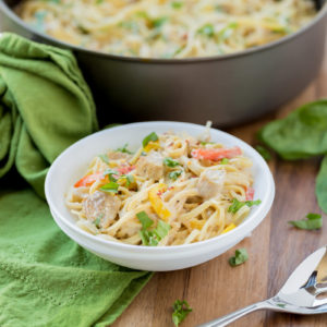Cajun Chicken Pasta is loaded with delicious flavors and perfect for a weeknight dinner!